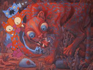 4213_Evan Lovejoy-painting-surrealism-feline-creature-900