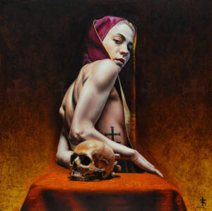 5154_Saturno Buttò-painting-saint-skull-900