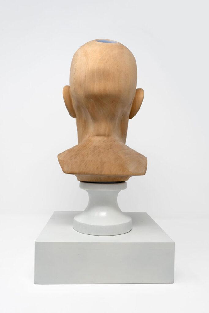 Richard Stipl Midnight Garden wooden head sculpture