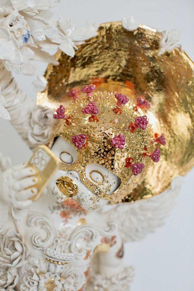 Susannah Montague gold white sculpture phone