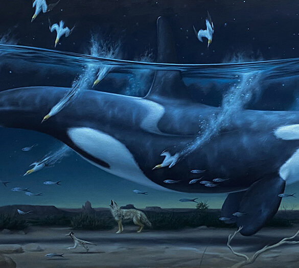 Phillip Singer - surreal killer whale painting - Beautiful Bizarre Art Prize