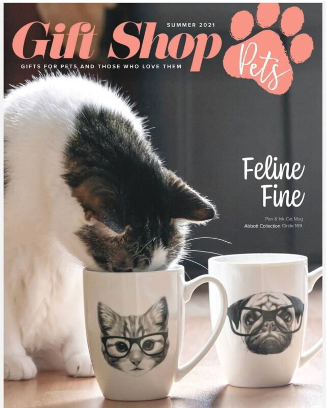 Willow makes the cover! Thank you for the great coverage @giftshop_magazine @giftshop_pets #giftshop_magazine #abbottcollection #abbottgiftware #cats #catsofinstagram