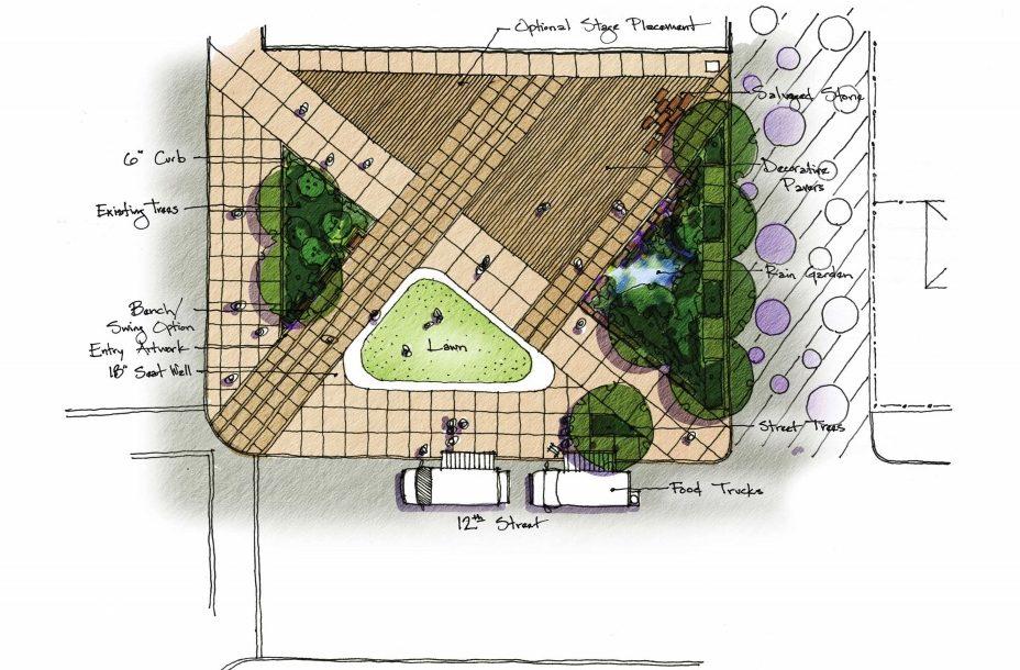 Essers Plaza Revitalization Sketch