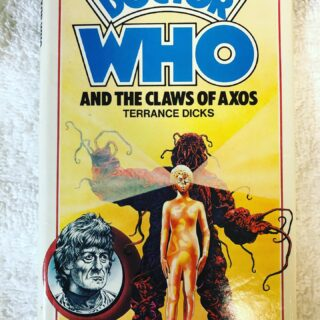 Dr. Who and the Claws of Axos, published in 1977 by Allan Wingate, a Longbow Book. Hardcover with Dust-jacket an ex-library edition in very good condition.  Not a common hardback. Could fetch $200 on up in non-library condition. #doctorwho #doctorwhobooks #doctorwhohardcovers #doctorwhohardbacks #doctorwhocollectors #jonpertweedoctorwho