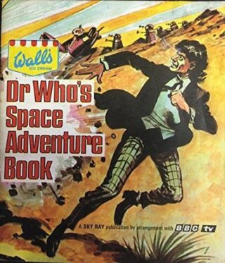 """Just acquired!  Dr Who's Space Adventure Book was a 1967 magazine published as a part of the Doctor Who/Dalek licensing agreement enjoyed by Wall's Ice Cream. It was somewhat like a """"mini-annual"""", in that it was comprised of some games, some diagrams and a story. The nine-page story, Daleks Invade Zaos, dominated the volume. The book was specifically tied into the then-new Wall's Sky Ray ice lollies — torpedo-shaped, raspberry-and-orange-flavoured, frozen confections on a stick. Television and print advertising stressed the importance of collecting cards included with each Sky Ray. These cards could then be used to help illustrate Daleks Invade Zaos, or to play a primitive card game called Space Raiders Battle Game.  Now to get the cards!  #DoctorWho #wallsicecreams #PatrickTroughton #doctorwhocollectors"""