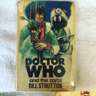 The latest addition these rare white lion additions featured the fourth doctor on the cover for the first doctor stories.  These are extremely rare to find with dust jackets. This is an exlibrary edition with the dust jacket intact. #doctorwho