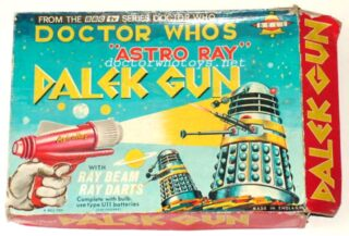 The 1965 Doctor Who Astro Ray Dalek Gun. This was battery operated with a flashlight and 3 darts by Bell.  Very rare. Do you have one?  #doctorwho #dalektoy #doctorwho1965