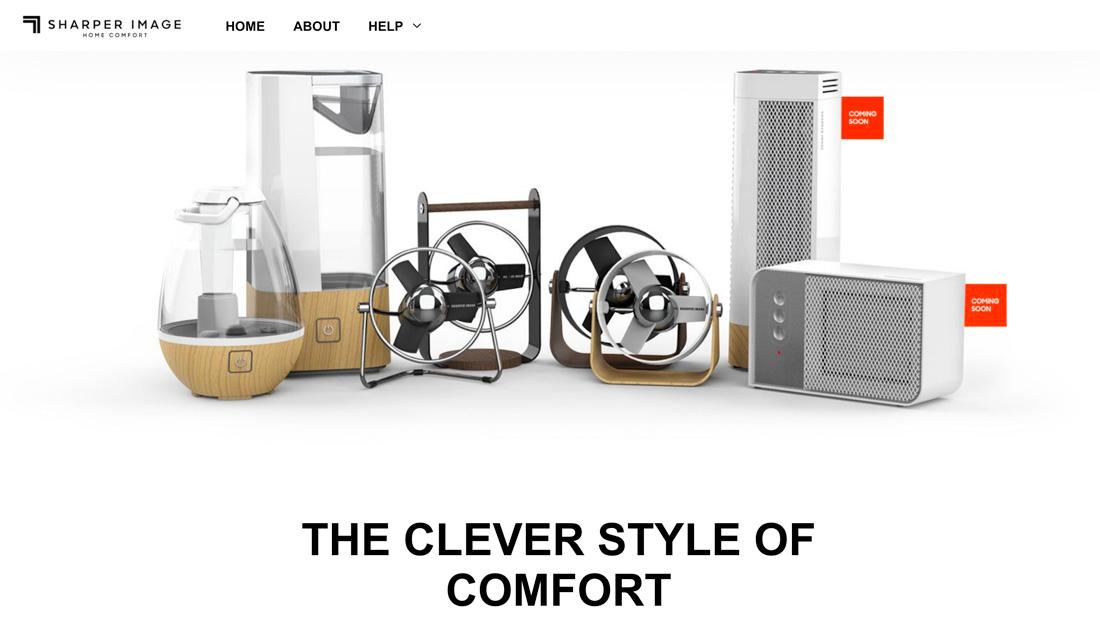 Sharper Image Home Comfort Website