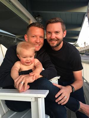 Nick and Chris with nephew Jack