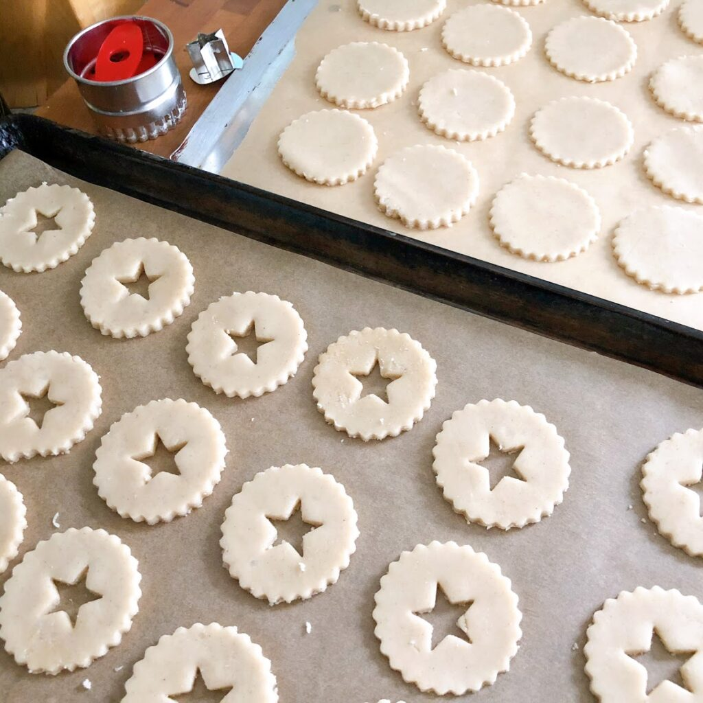 linzer cookie cut outs