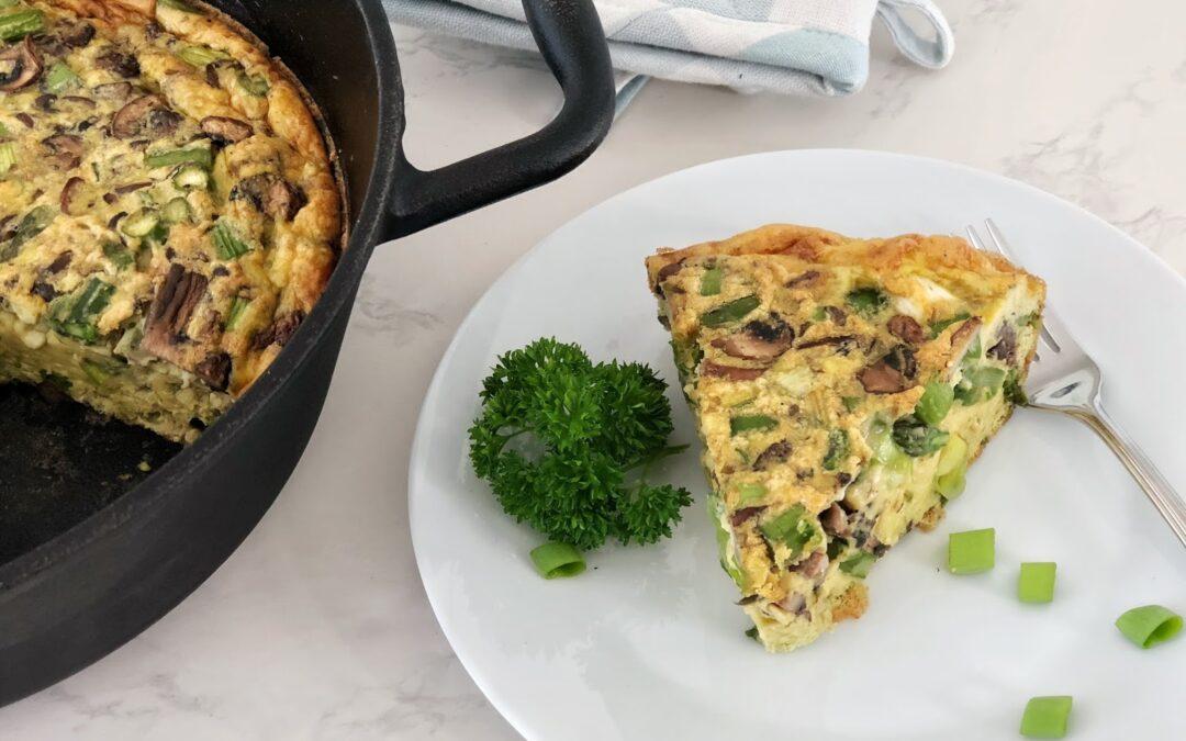 Asparagus and Mushroom Frittata