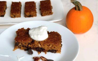 Pumpkin Pecan Chocolate Chip Sheet Cake