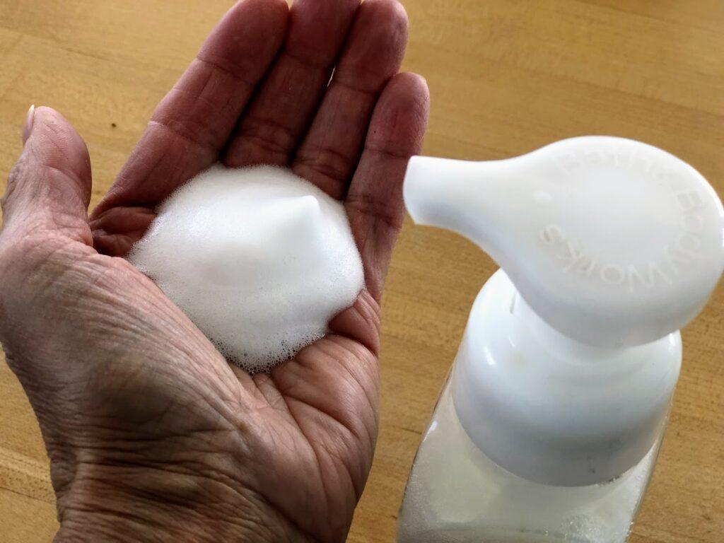 DIY foaming hand soap.