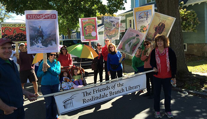 Friends of Roslindale Library at the Rozzie Day 2014 Parade