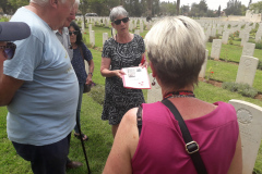 Relative-of-Youngest-ANZAC-Receiving-File-at-Beer-Sheva-WW1-Cemetery-6June2019