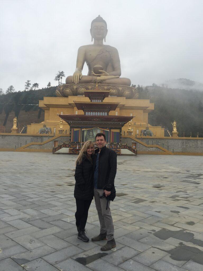 The world's biggest Buddha, while traveling in Bhutan