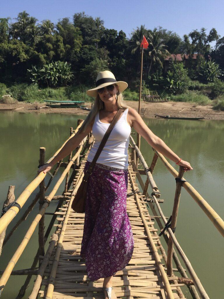 Travel to Laos - bridge in Luang Prabang