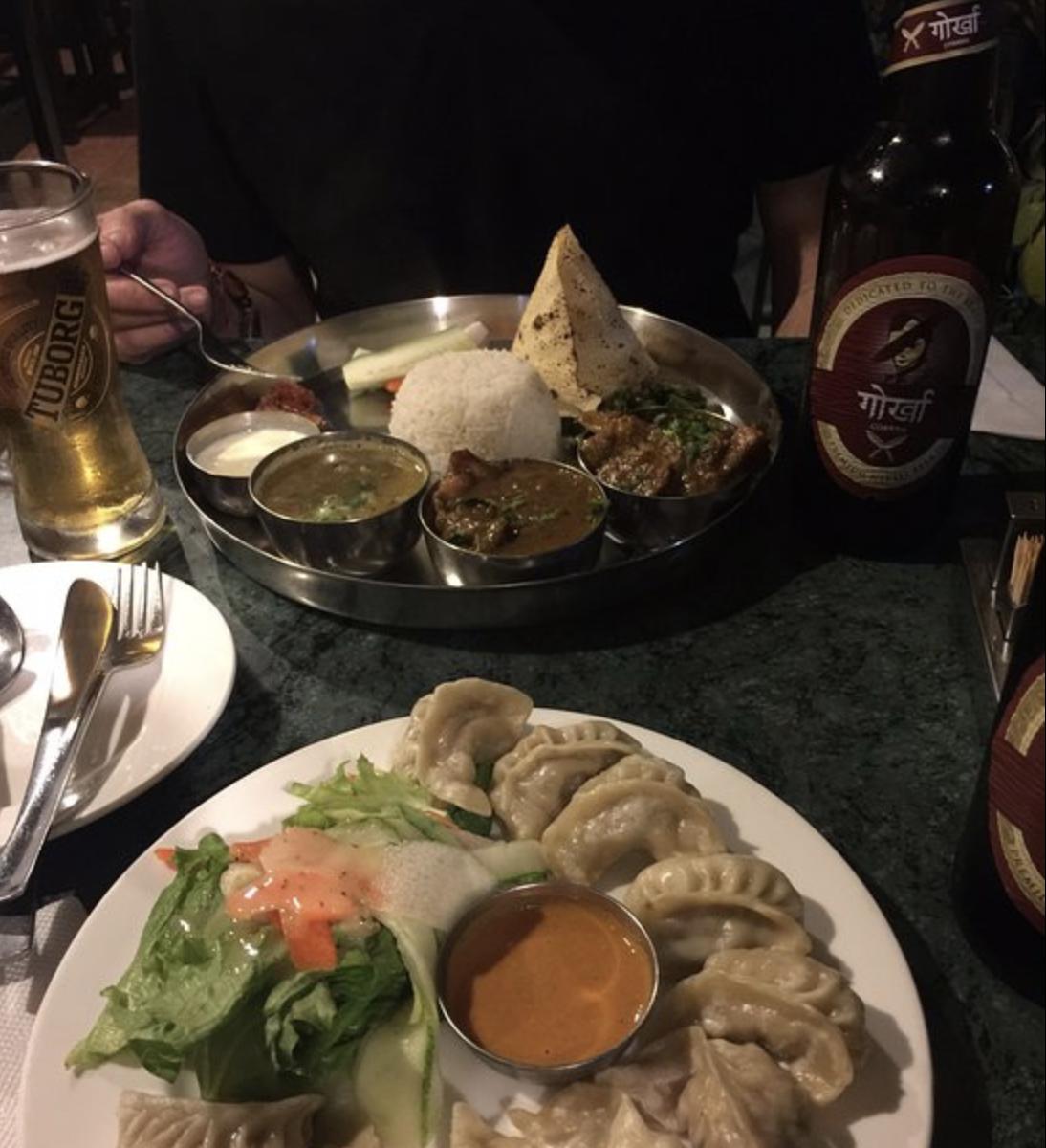 Delicious food at Frens in Kathmandu, Nepal