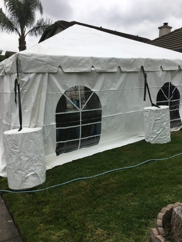 20x20 party tent with optional side walls
