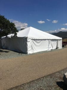30x30 Frame Tent with Solid White Walls