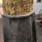 Sculpture piece: Polymer plaster on papier-mâché tree trunk