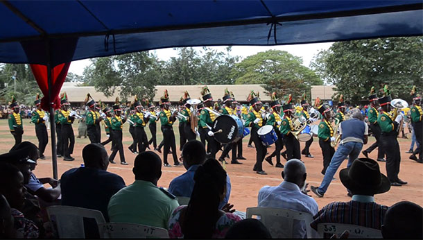 HFLA Band Marching in Ghana Independence Day Parade, March 6, 2018