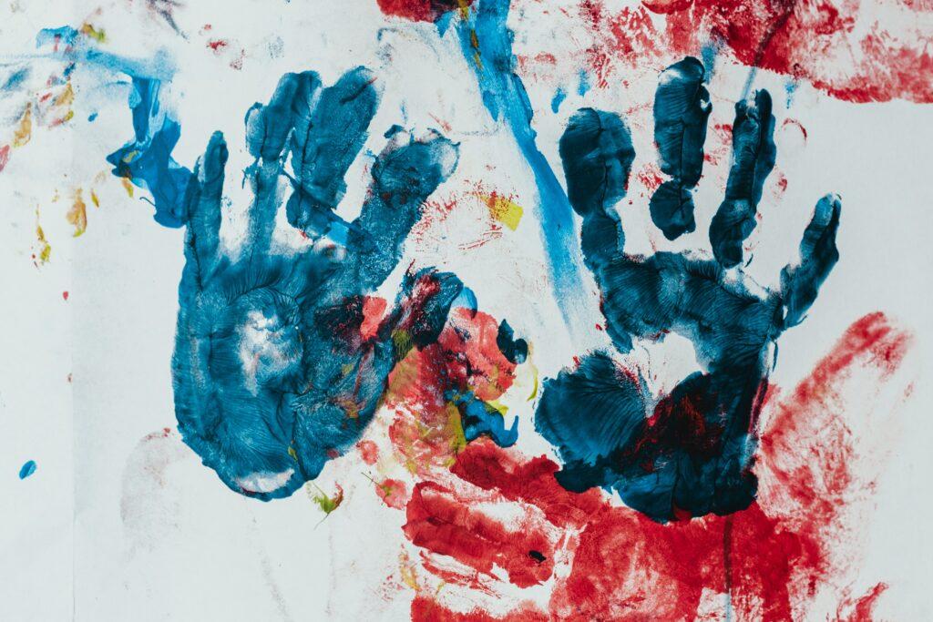 hamdprints in paint