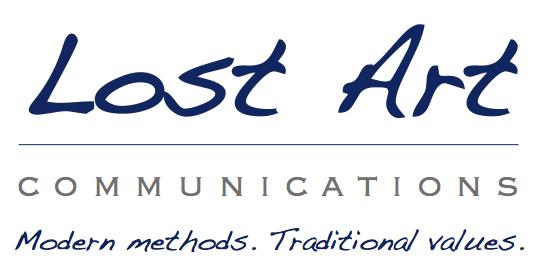 Lost Art Logo with Slogan