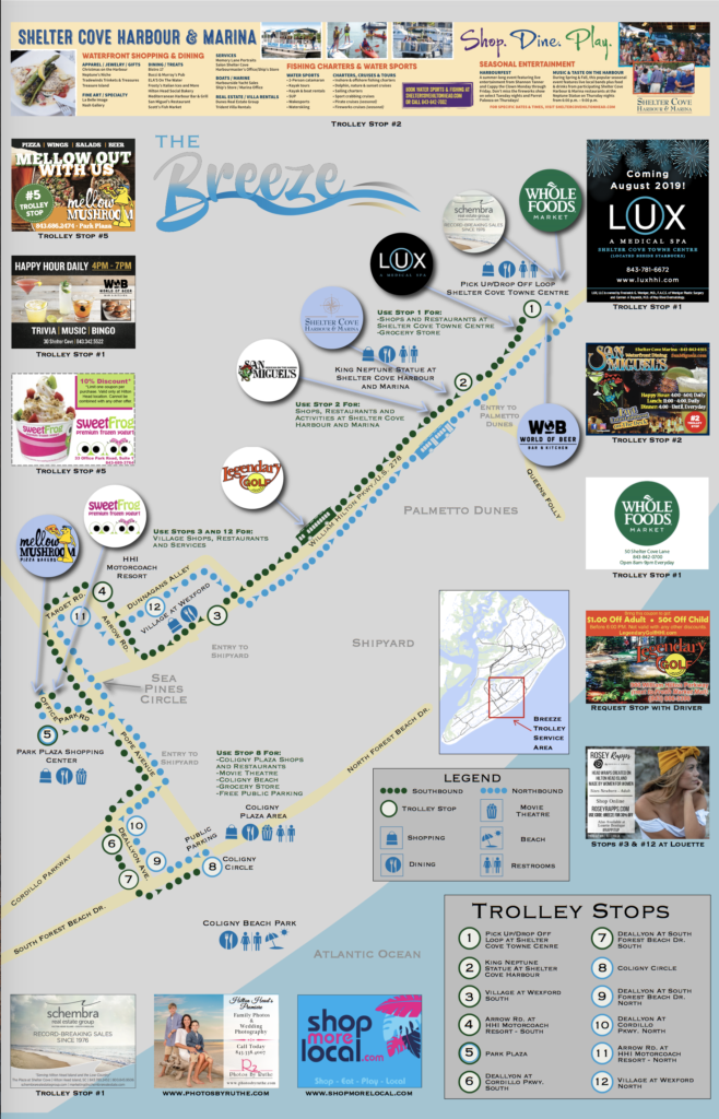 Breeze Trolley 2019 Route Map