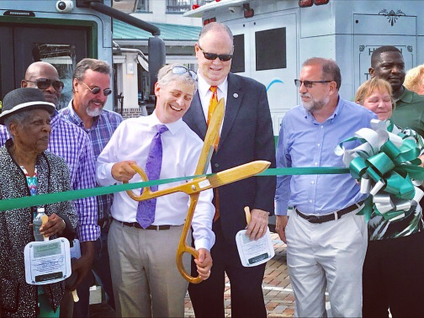 Event Management-Trolley Ribbon Cutting