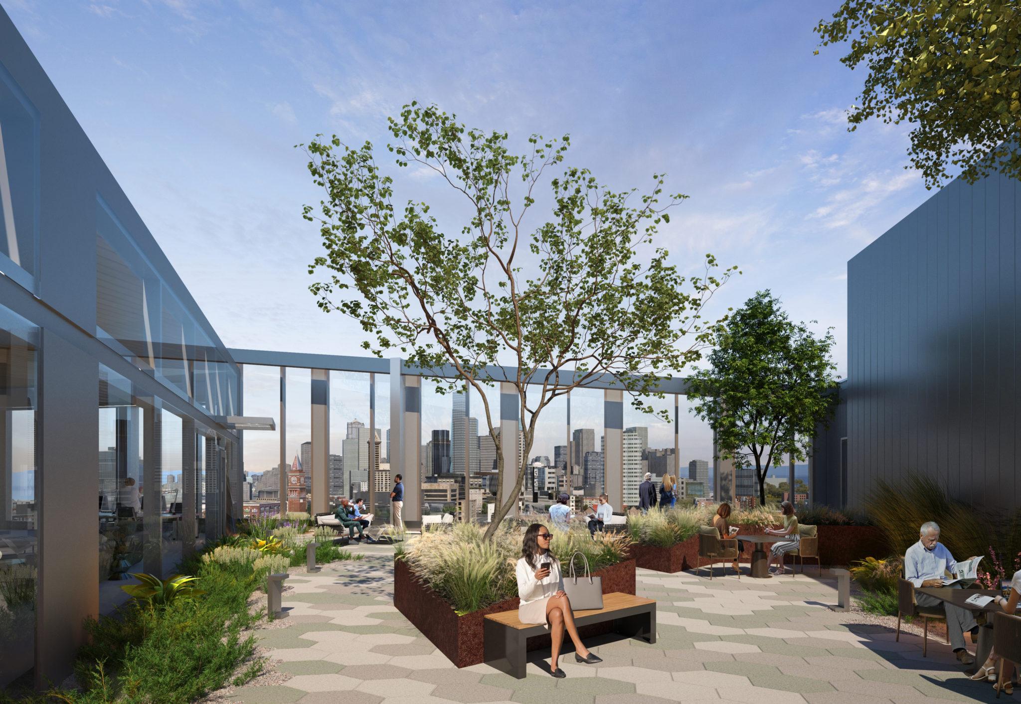 S Seattle Rendering Rooftop Deck View