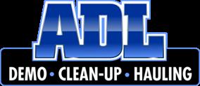 ADL demo cleanup hauling logo