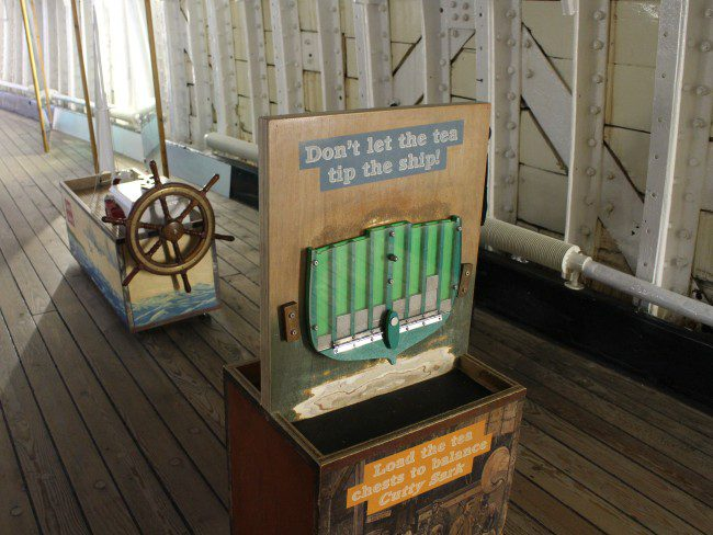 Activities aboard the Cutty Sark