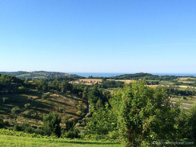 View from Antica Trattoria Fano
