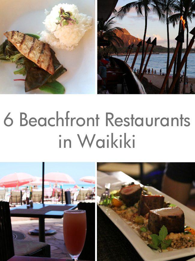 Beachfront Restaurants in Waikiki
