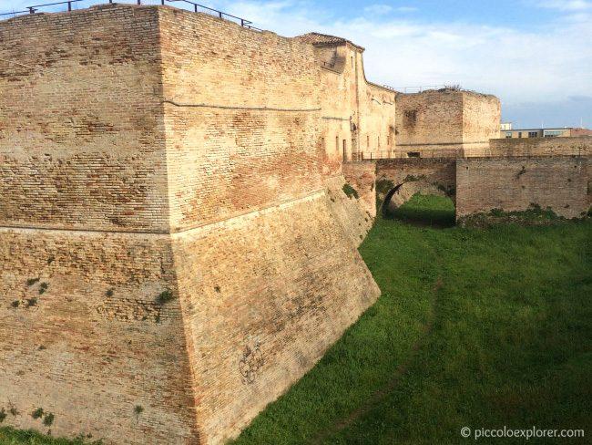 Ancient Roman Walls Surrounding Fano Italy