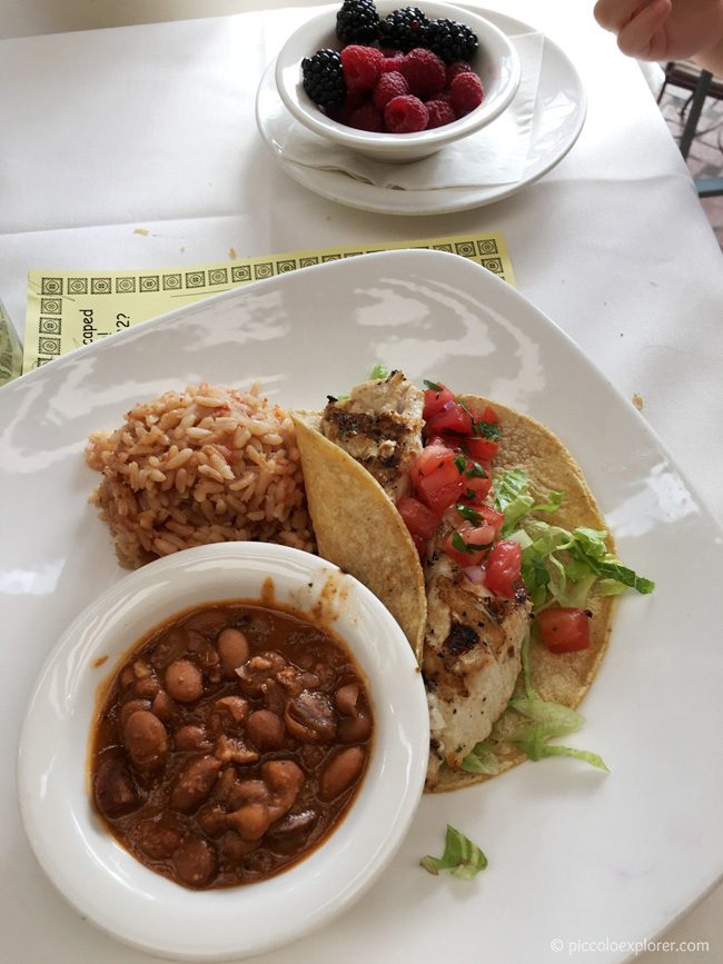 Kid's Fish Tacos, The Prado at Balboa Park, San Diego