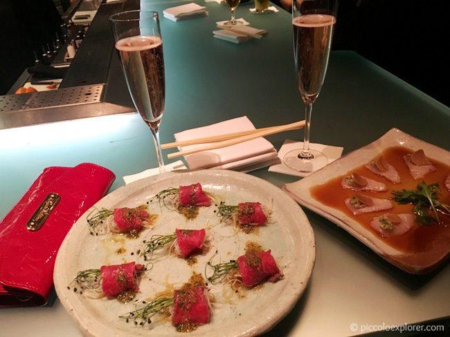 Champagne and Starters at Zuma Knightsbridge