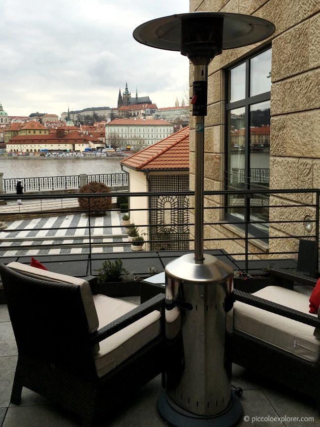 Prague Castle view from CottoCrudo Four Seasons