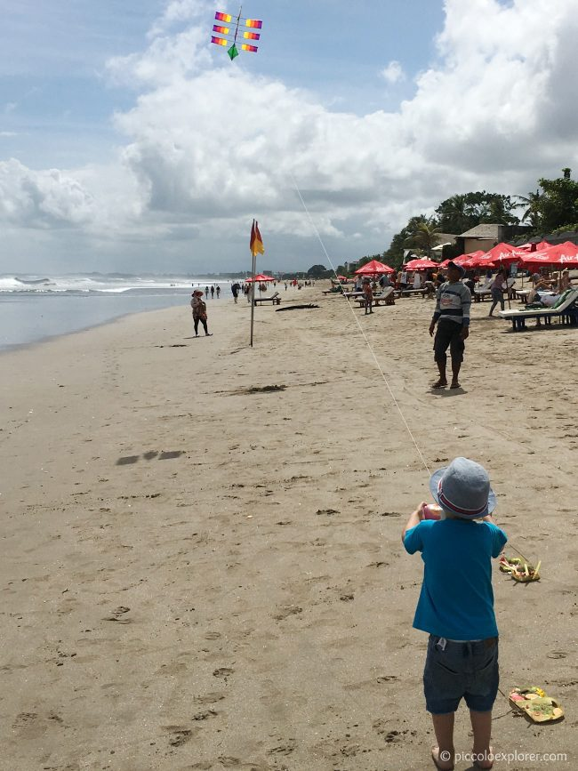 Kite Flying on Seminyak Beach, Bali