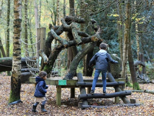 Play area for toddlers at Winkworth Arboretum
