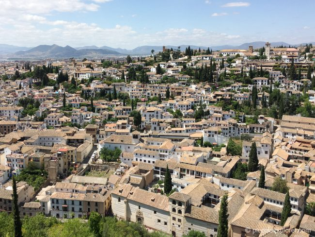 View of Granada from the Alhambra