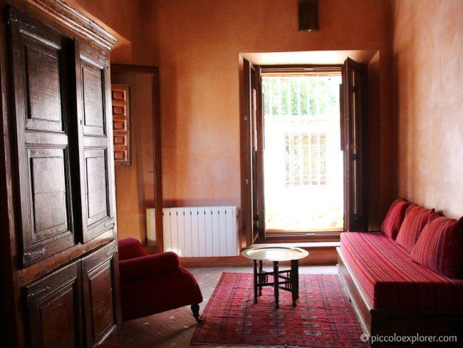Living room in Palacio Conde de Cabra apartment, Granada