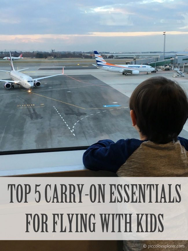 Our top 5 carry-on essentials for traveling with young kids