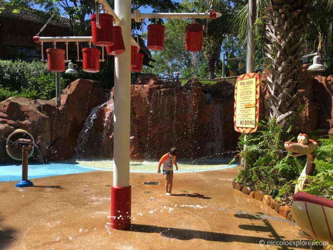 Kid's Pool area at Kidani Village, Animal Kingdom Lodge, Walt Disney World, Florida
