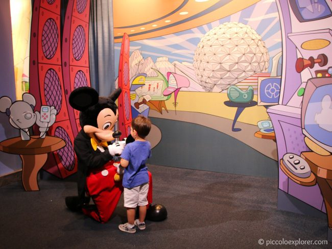Mickey Mouse at the Epcot Character Spot, Walt Disney World, Florida