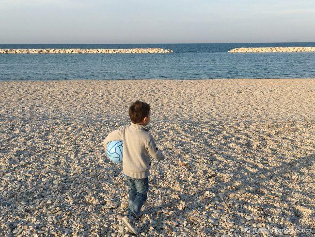 Sassonia beach, Fano, Italy