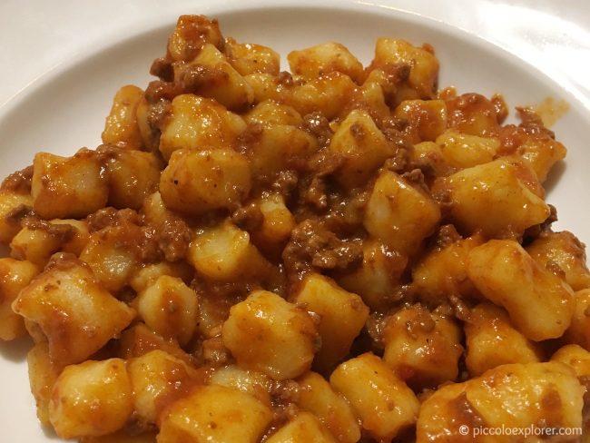 Gnocchi with meat ragu, La Mandria, Fano
