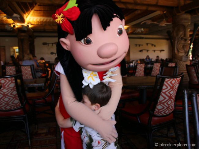 Breakfast with Lilo & Stitch at 'Ohana Restaurant, Disney's Polynesian Village Resort
