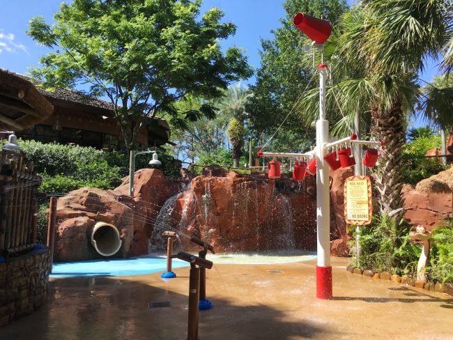 Water playground at Kidani Village Swimming Pool, Animal Kingdom Lodge